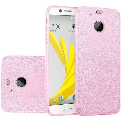 Insten Hard Hybrid Glitter TPU Cover Case For HTC Bolt - Hot Pink
