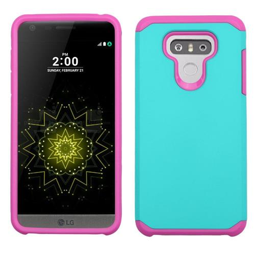 Insten Hard Dual Layer TPU Cover Case For LG G6 - Teal/Hot Pink