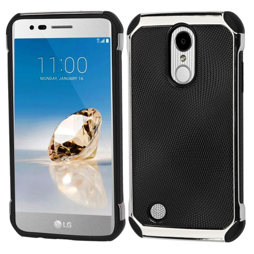 Insten Hard Dual Layer TPU Case For LG Aristo/Fortune/K8 (2017)/LV3/Phoenix 3 - Black/Silver