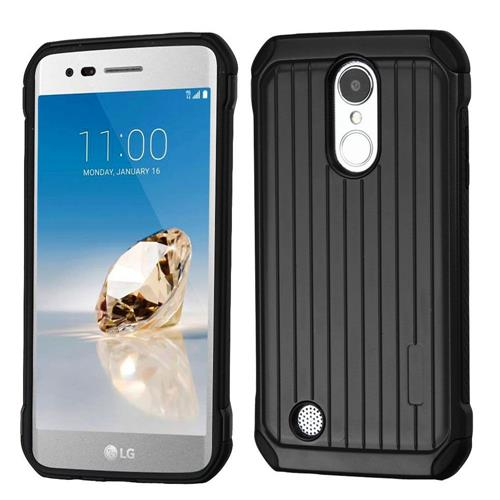 Insten Hard Hybrid TPU Case For LG Aristo/Fortune/K8 (2017)/LV3/Phoenix 3 - Black