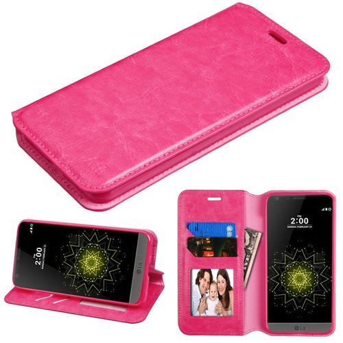 Insten Wallet Case for LG G6 - Hot Pink