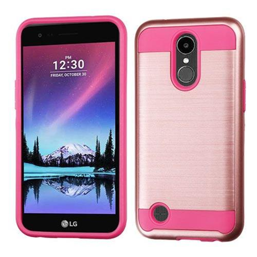 Insten Hard Dual Layer TPU Cover Case For LG K20 Plus/V5 - Rose Gold/Pink