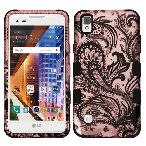 Insten Fitted Soft Shell Case for LG Tribute Hd - Black;Rose Gold