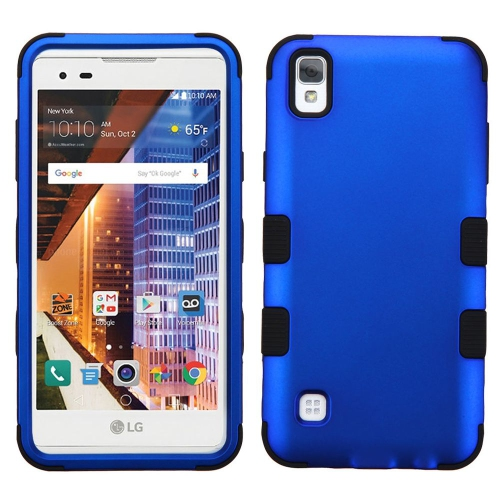 Insten Tuff Hard Hybrid Silicone Case For LG Tribute HD/X STYLE - Dark Blue/Black