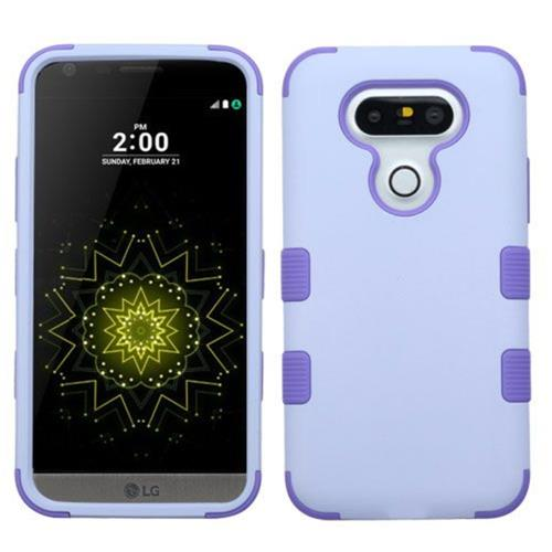 Insten Tuff Hard Hybrid Rubberized Silicone Cover Case For LG G5 - Purple