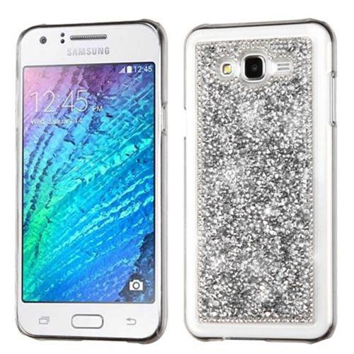 Insten Fitted Hard Shell Case for Samsung Galaxy J7 - Silver