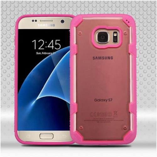 Insten Hard TPU Case For Samsung Galaxy S7 - Rose Gold/Hot Pink