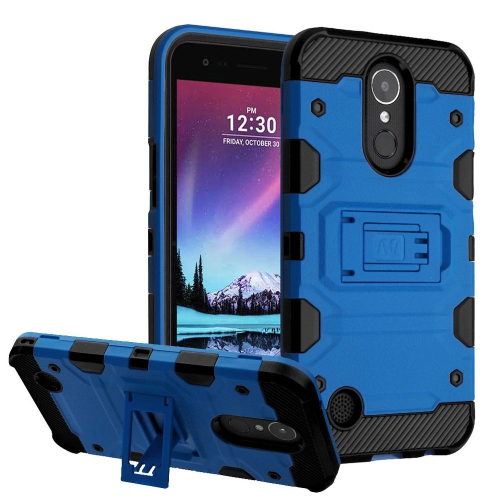 Insten Hard Dual Layer TPU Case w/stand For LG Harmony/K10 (2017)/K20 Plus/K20 V - Blue/Black