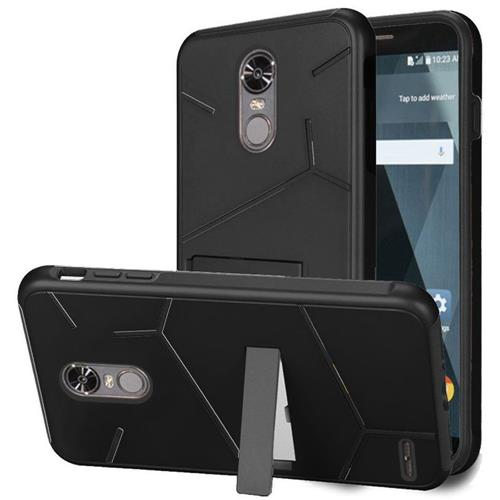 Insten Hard Dual Layer TPU Cover Case w/stand For LG Stylo 3 - Black