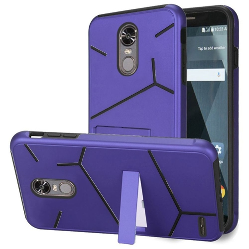 Insten Hard Dual Layer TPU Case w/stand For LG Stylo 3 - Purple/Black