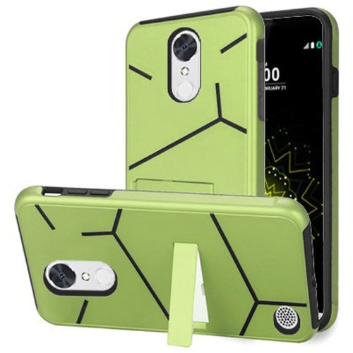 Insten Hard Hybrid TPU Case w/stand For LG Grace 4G/Harmony/K20 Plus/K20 V, Neon Green/Black