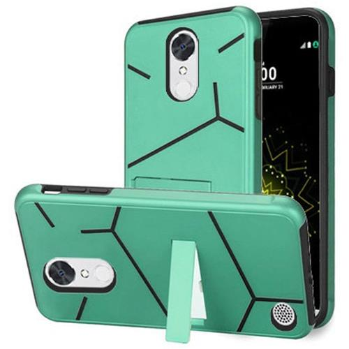 Insten Hard Hybrid TPU Cover Case w/stand For LG Grace 4G/Harmony/K20 Plus/K20 V, Teal/Black