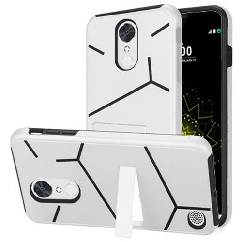 Insten Hard Hybrid TPU Cover Case w/stand For LG Grace 4G/Harmony/K20 Plus/K20 V, White/Black