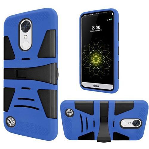 Insten Hard Hybrid Silicone Cover Case w/stand For LG Grace 4G/Harmony/K20 Plus/K20 V, Blue/Black