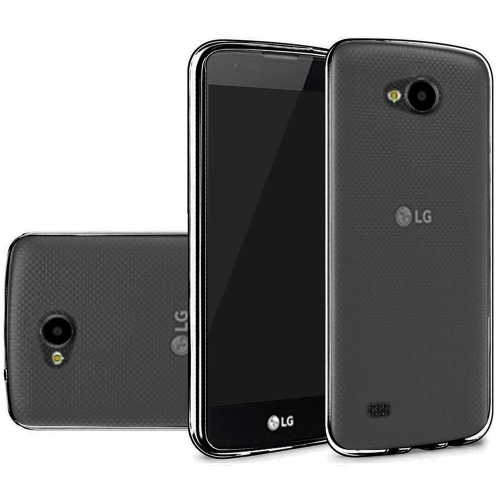 Insten Hard Transparent Crystal TPU Cover Case For LG X Venture, Black