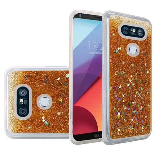 Insten Quicksand Hard Glitter Case For LG G6 - Gold