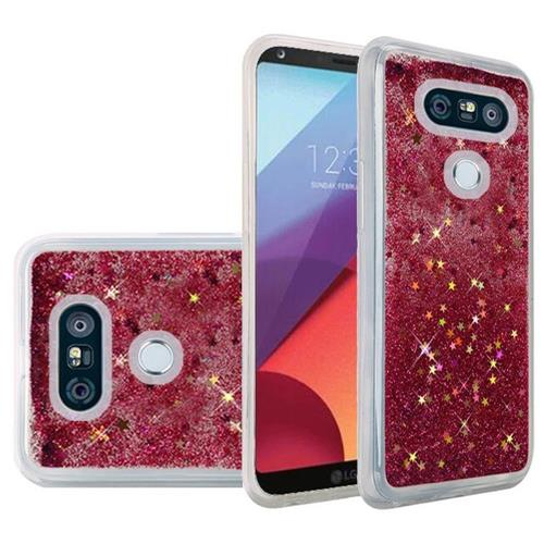 Insten Quicksand Hard Glitter Cover Case For LG G6 - Hot Pink