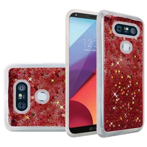 Insten Quicksand Hard Glitter Case For LG G6 - Red