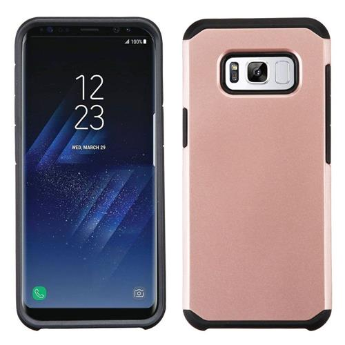 Insten Hard Hybrid TPU Case For Samsung Galaxy S8 Plus - Rose Gold/Black