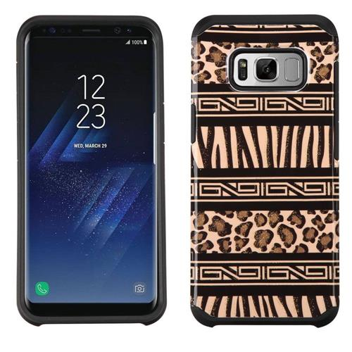 Insten Leopard/Zebra Hard Dual Layer TPU Cover Case For Samsung Galaxy S8 Plus - Brown