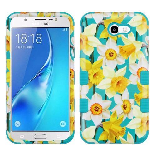 Insten Tuff Spring Daffodils Hard Case For Samsung Galaxy J7 (2017)/J7 Perx/J7 Sky Pro/J7 V - Yellow