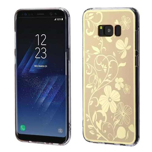 Insten Electroplating Flowers Gel Cover Case For Samsung Galaxy S8 - Gold