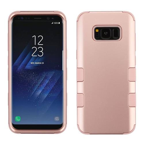 Insten Tuff Hard Hybrid Rubber Silicone Case For Samsung Galaxy S8 - Rose Gold