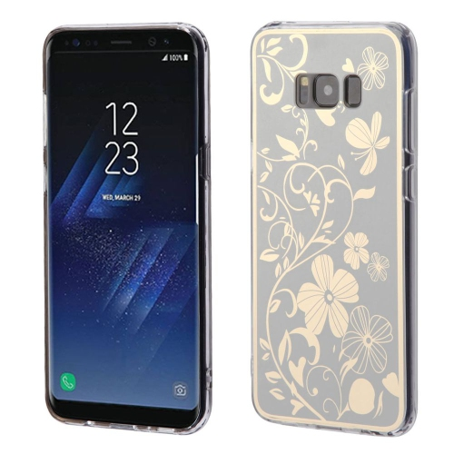 Insten Electroplating Flowers Rubber Cover Case For Samsung Galaxy S8 Plus - Silver