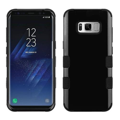Insten Tuff Hard Dual Layer Silicone Cover Case For Samsung Galaxy S8 Plus - Black