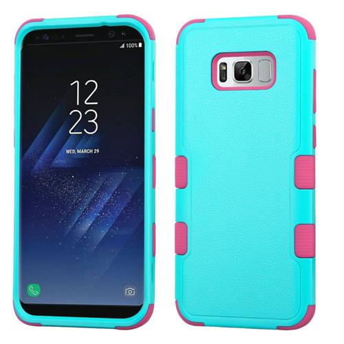 Insten Fitted Soft Shell Case for Samsung Galaxy S8 Plus - Pink;Teal