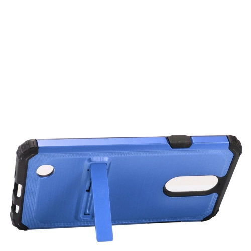 Insten Hard Hybrid Silicone Cover Case w/stand For LG Aristo/K8 (2017)/LV3 - Blue/Black