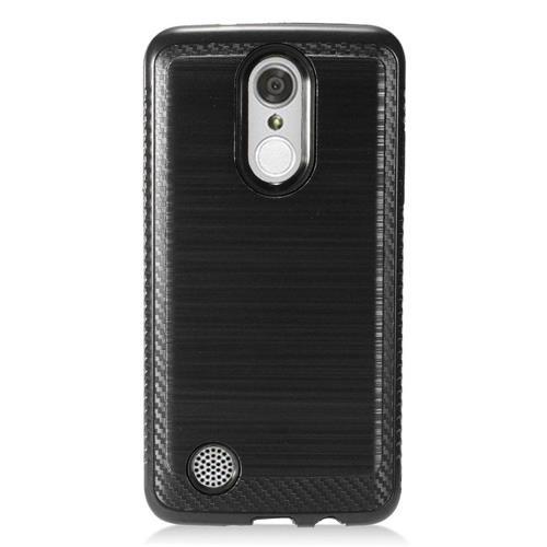 Insten Hard Hybrid TPU Cover Case For LG Aristo/K8 (2017)/LV3 - Black