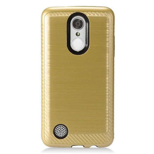 Insten Hard Dual Layer TPU Case For LG Aristo/K8 (2017)/LV3 - Gold