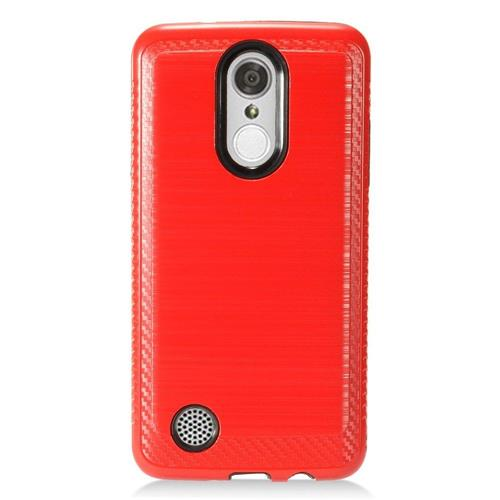 Insten Hard Hybrid TPU Case For LG Aristo/K8 (2017)/LV3 - Red