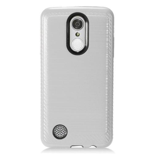 Insten Hard Hybrid TPU Case For LG Aristo/K8 (2017)/LV3 - Silver