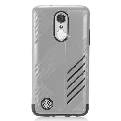Insten Hard Hybrid Rubber Silicone Case For LG Aristo/K8 (2017)/LV3 - Gray/Black