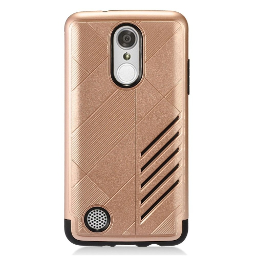 Insten Hard Hybrid Rubber Silicone Case For LG Aristo/K8 (2017)/LV3 - Rose Gold/Black