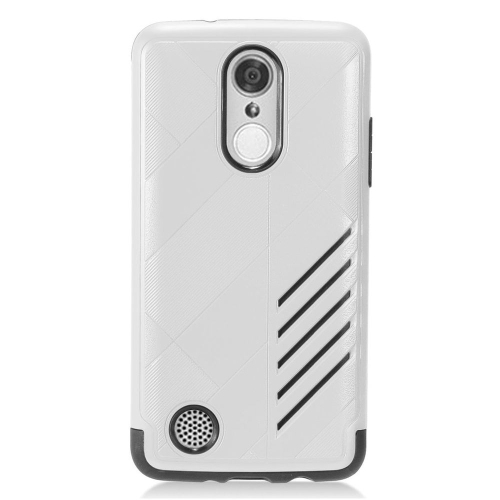 Insten Hard Dual Layer Silicone Case For LG Aristo/K8 (2017)/LV3 - Silver/Black