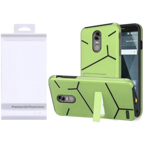 Insten Hard Hybrid TPU Case w/stand For LG Stylo 3/Stylo 3 Plus - Green/Black