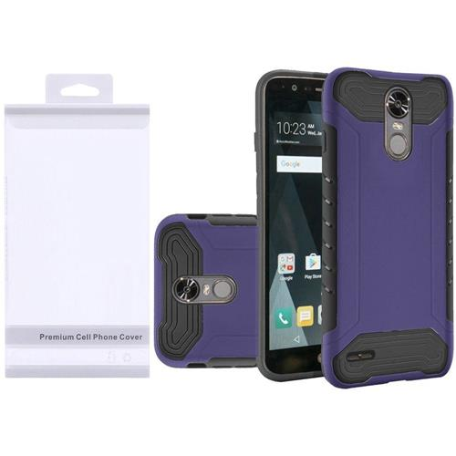 Insten Hard Dual Layer Rubber Coated Silicone Case For LG Stylo 3/Stylo 3 Plus - Purple/Black