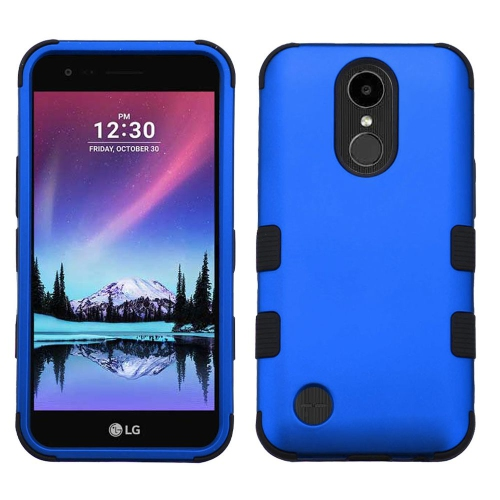 Insten Tuff Hard Dual Layer Silicone Case w/Holster For LG K20 Plus/V5 - Blue/Black