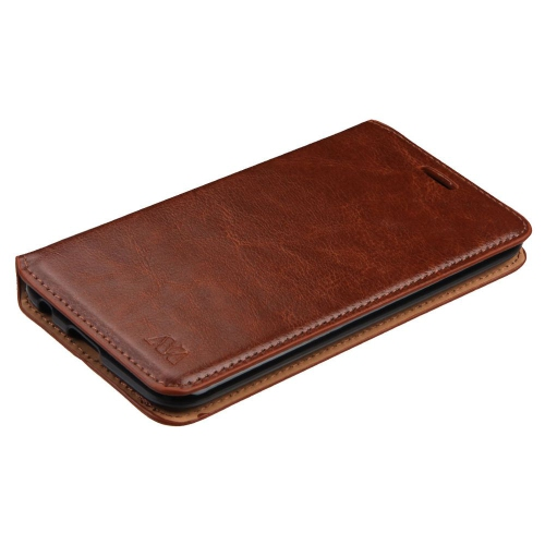 Insten Leather Fabric Cover Case w/stand/card holder/Photo Display For LG K20 Plus/V5, Brown