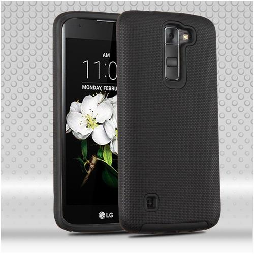 Insten Hard Hybrid TPU Cover Case For LG Escape 3/K7 Tribute 5/Treasure LTE - Black