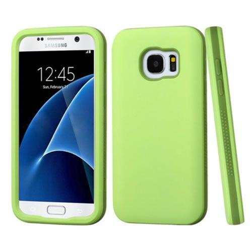 Insten Hard Hybrid Rubber Coated Silicone Cover Case For Samsung Galaxy S7 - Green