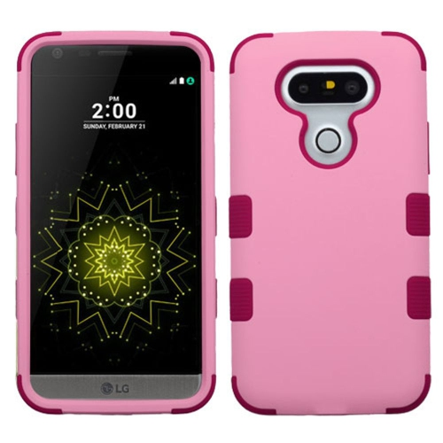 Insten Tuff Hard Dual Layer Silicone Case For LG G5 - Pink