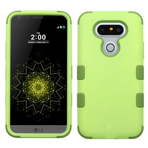 Insten Tuff Hard Dual Layer Silicone Case For LG G5 - Green