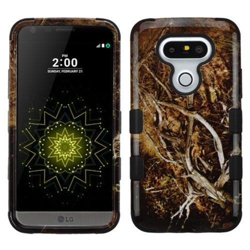 Insten Tuff Vines Hard Hybrid Rubber Silicone Case For LG G5 - Yellow/Black