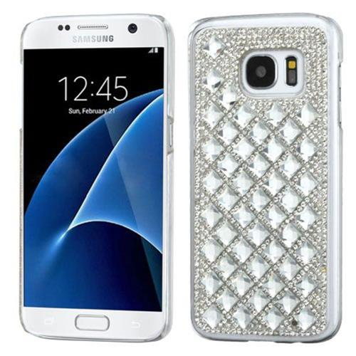 Insten Hard Diamante Cover Case For Samsung Galaxy S7 - Silver