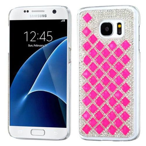 Insten Hard Bling Cover Case For Samsung Galaxy S7 - Hot Pink