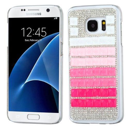 Insten Hard Diamond Cover Case For Samsung Galaxy S7 - Pink